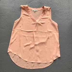Rose + Olive Sheer peach tank top